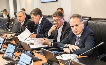 Расширенное заседание Комитета СФ побюджету ифинансовым рынкам сучастием членов трехсторонней комиссии
