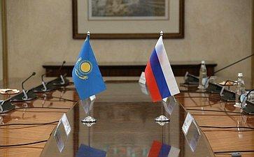 Встреча первого заместителя Председателя СФ Андрея Яцкина сзаместителем Председателя Сената Парламента Республики Казахстан