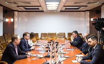 Встреча К. Косачева спредставителями деловых иполитических кругов Франции