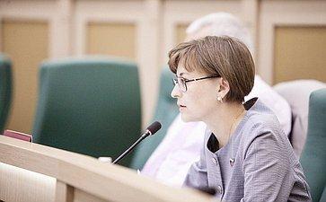Людмила Бокова на 358 заседании Совета Федерации