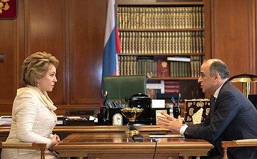 Председатель Совета Федерации иГлава Кабардино-Балкарии обсудили вопросы социально экономического развития Республики
