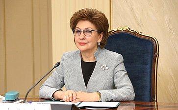 Встреча заместителя Председателя Совета Федерации Галины Кареловой счленами Палаты молодых законодателей