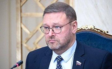 К. Косачев провел встречу снезависимыми политическими аналитиками изГермании иСША