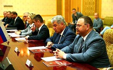Встреча сПредседателем Верховного Народного Собрания КНДР Цой Тхе Боком
