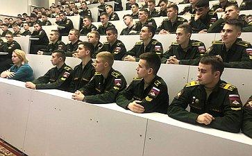 В. Рязанский провел встречу скурсантами Военного университета Министерства обороны Российской Федерации