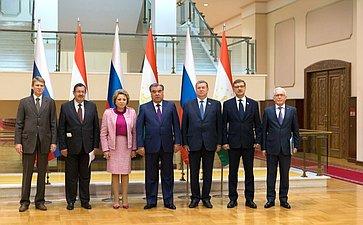 Встреча делегации Совета Федерации сПрезидентом Республики Таджикистан Эмомали Рахмоном