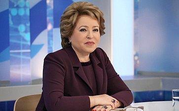 В. Матвиенко рассказала орезультатах реформы Совета Федерации. Интервью Председателя Совета Федерации РИА Новости
