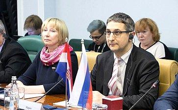 Видеоконференция между членами групп посотрудничеству Совета Федерации иСабора Республики Хорватии