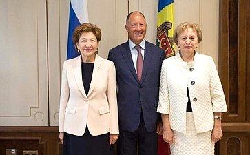 Делегация Совета Федерации провела встречу сПредседателем Парламента Молдавии Зинаидой Гречаный