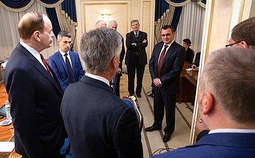 Встреча сделегацией Конгресса США воглаве спредседателем Комитета Сената Ричардом Шелби