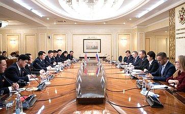 Встреча сенаторов сзаместителем Председателя Верховного народного собрания Корейской Народно-Демократической Республики Пак Чхол Мином