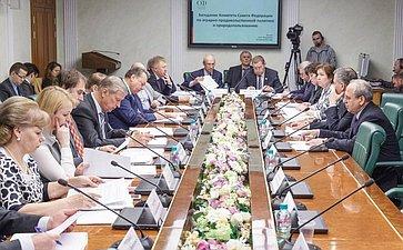 Заседание Комитета Совета Федерации поаграрно-продовольственной политике иприродопользованию