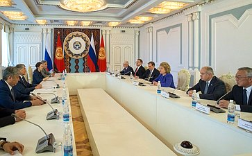 Встреча В. Матвиенко сПрезидентом Киргизской Республики А.Атамбаевым