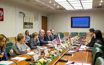 Встреча А. Клишаса счленом Президиума Законодательной ассамблеи Республики Коста-Рика Отто Р.Варгасом Викесой