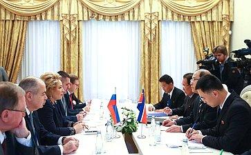 Встреча сзаместителем Председателя Верховного народного собрания КНДР
