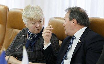 Встреча членов Совета Федерации сделегацией фракции Европейского парламента «Европейские объединенные левые– северные зеленые левые»