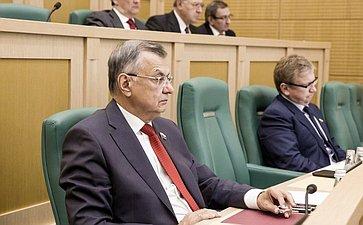 Степан Жиряков на 358 заседании Совета Федерации