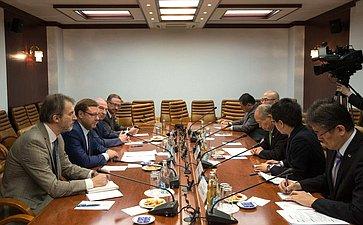 Встреча Константина Косачева спредседателем японской партии «Большая земля» Мунэо Судзуки