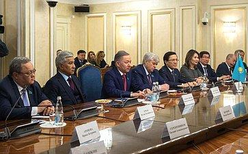 Встреча И. Умаханова сПредседателем Мажилиса Парламента Республики Казахстан Н.Нигматулиным