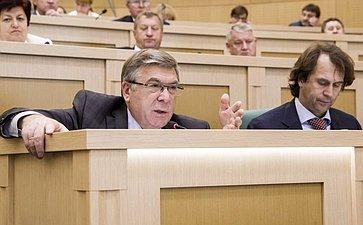 Валерий Рязанский на 358 заседании Совета Федерации