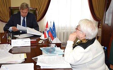 А. Пушков провел прием граждан вПерми ипринял участие вработе заксобрания Пермского края
