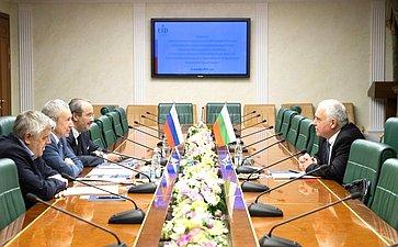 Встреча Андрея Климова сЧрезвычайным иПолномочным Послом Республики Болгарии вРоссийской Федерации Атанасом Крыстиным