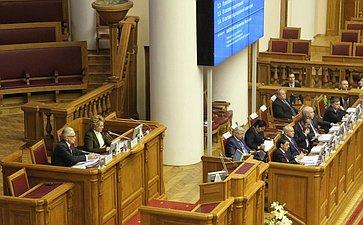 Делегация СФ приняла участие вмероприятиях, состоявшихся врамках 43-го пленарного заседания МПА СНГ вСанкт-Петербурге