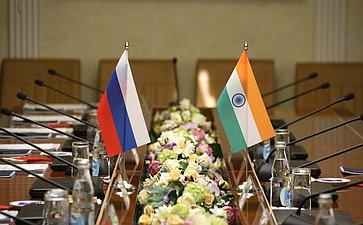 Встреча Елены Афанасьевой сЧрезвычайным иПолномочным Послом Республики Индии вРФ Д.Б. Венкатешем Вармой