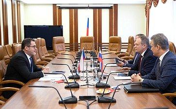 Встреча Александра Башкина сЧрезвычайным иПолномочным Послом Чешской Республики вРФ Витезславом Пивонькой