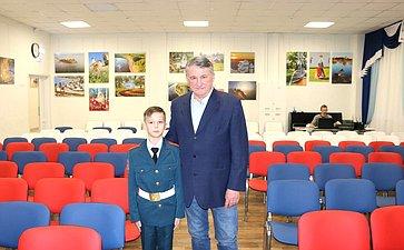 Встреча Ю. Воробьева скурсантами центра «Корабелы Прионежья»