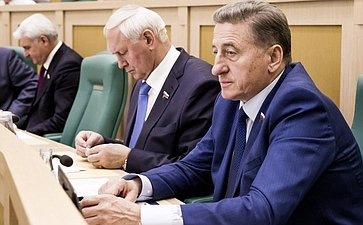Сергей Лукин на 358 заседании Совета Федерации
