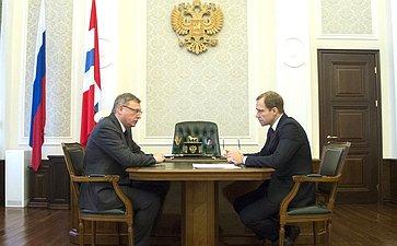 Андрей Кутепов провел встречу сгубернатором Омской области Александром Бурковым