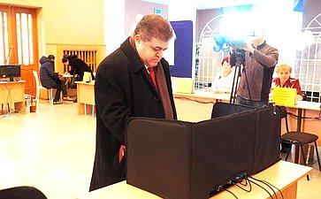 В. Джабаров проголосовал вБиробиджане навыборах Президента России