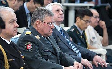 Брифинг своенными атташе иностранных государств, аккредитованными вРоссийской Федерации