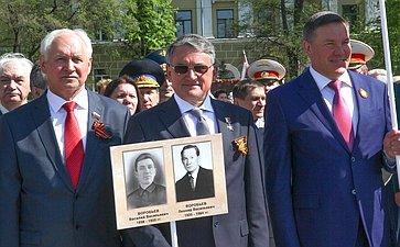 Ю. Воробьев принял участие впараде вВологодской области послучаю 71-й годовщины Победы