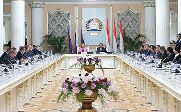 Открытие V Межпарламентского форума «Россия– Таджикистан: потенциал межрегионального сотрудничества» вДушанбе