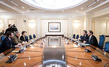 Встреча К. Косачева сдепутатом Европарламента Стефано Маулу