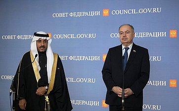 И. Умаханов изаместитель Председателя Консультативного совета Королевства Саудовская Аравия Яхъя Абдулла Ас-Самаан