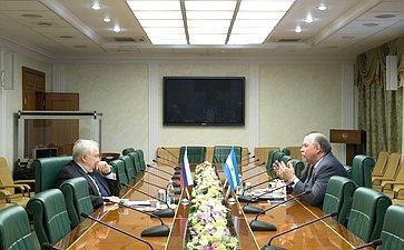Встреча С. Кисляка сПослом Аргентины вРФ