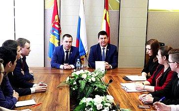 Встреча Виктора Смирнова спредставителями молодежной администрации Фурмановского муниципального района