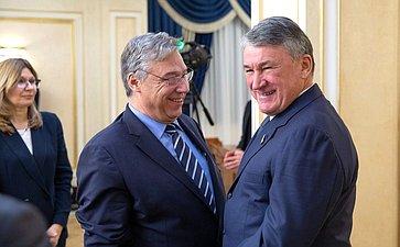 Встреча Юрия Воробьева сФилиппо Ломбарди