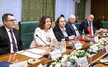 Встреча А.Башкина сзаместителем Председателя Сената Парламента Чешской Республики М.Горской