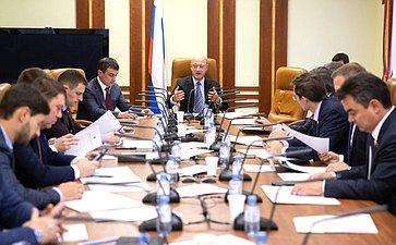 Заседание Временной комиссии СФ поосуществлению парламентского контроля заходом реализации комплексного плана модернизации ирасширения магистральной инфраструктуры