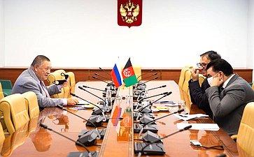 Сергей Калашников провел встречу сВременным поверенным вделах Исламской Республики Афганистан вРФ Мохтаатом Хомаюном