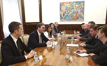 Рабочий визит делегации Совета Федерации воглаве сА.Турчаком вРеспублику Сербия