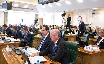 Расширенное заседание Комитета СФ побюджету ифинансовым рынкам сучастием представителей Псковской области