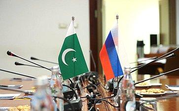 Встреча председателя Комитета СФ помеждународным делам Григория Карасина слидером фракции «Движение засправедливость» вСенате Исламской Республики Пакистан