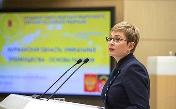 Губернатор Мурманской области М. Ковтун вСовете Федерации. Апрель 2018
