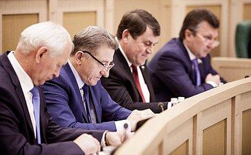Сенаторы на 358 заседании Совета Федерации
