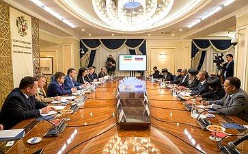 Встреча Н. Федорова сГлавой Эфиопской Церкви Патриархом А.Матфием